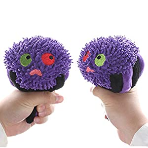 IFOYO Dog Squeaky Toy, Halloween Dog Toy Spider Tough Dog Squeak Toy Cute Dog Teething Toy for Medium Small Dogs, Spider