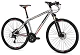 "Mongoose Reform Expert 700C Wheel Hybrid Bicycle, Silver, 17.5""/Medium"