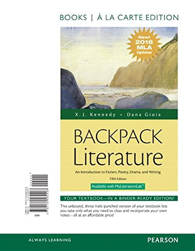 Backpack Literature Mla Update Ed.(Ll)