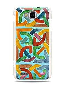 GRÜV Premium Case - 'Abstract Watercolor Tile' Design - Best Quality Designer Print on White Hard Cover - for Samsung ATIV S i8750 T899 T899m