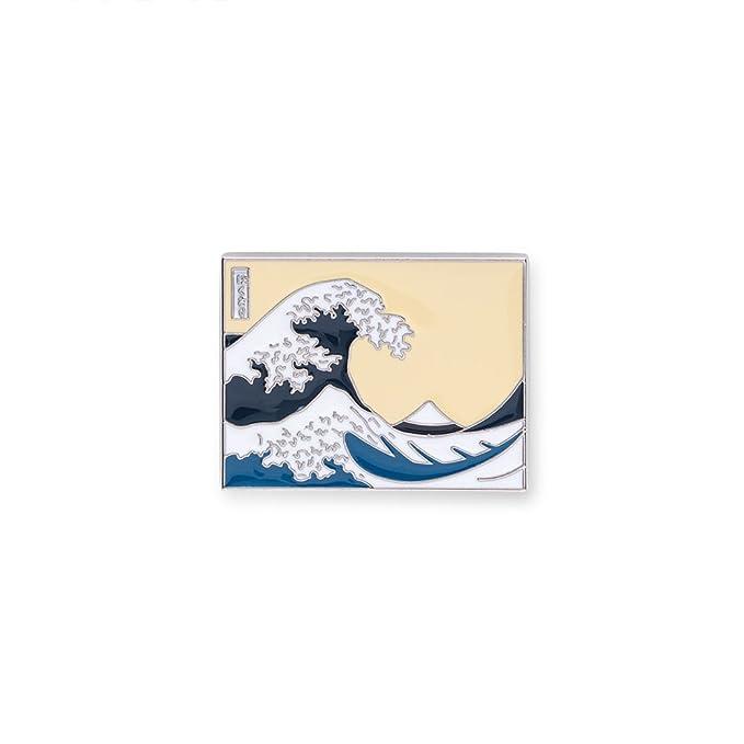 The Metropolitan Museum of Art Fashion Enamel Great Wave Small Pin For Lapel