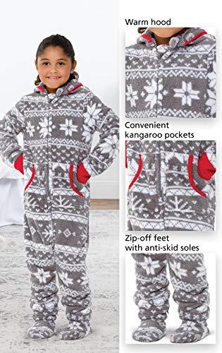 4c279143a0 Jual PajamaGram Big Girls  Hoodie-Footie Fleece Onesie Pajamas - One ...