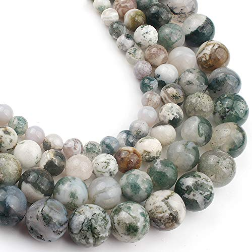 Yochus 10mm Tree agates Onyx Round Loose Beads Natural Stone Beads for Jewelry Making