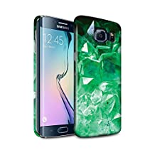 STUFF4 Gloss Hard Back Snap-On Phone Case for Samsung Galaxy S6 Edge / May/Emerald Design / Birth/Gemstone Collection