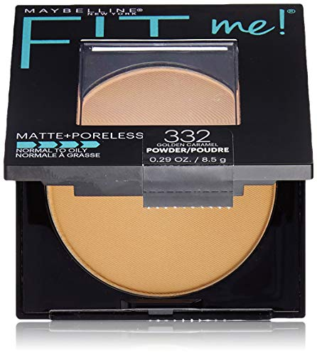 Maybelline New York Fit Me Matte + Poreless Pressed Face Powder Makeup, Golden Caramel, 0.28 Ounce