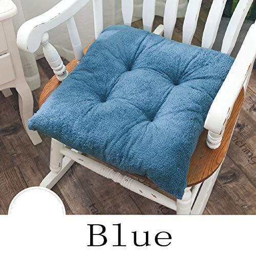 (Plush Thick Seat Cushion, Winter Office Chair Cushion Warm Floor Cushion Futon Backrest Pillow Sofa Cushioning Car Cushion Soft Fleece Tatami-Blue 40x40x8cm(16x16x3))