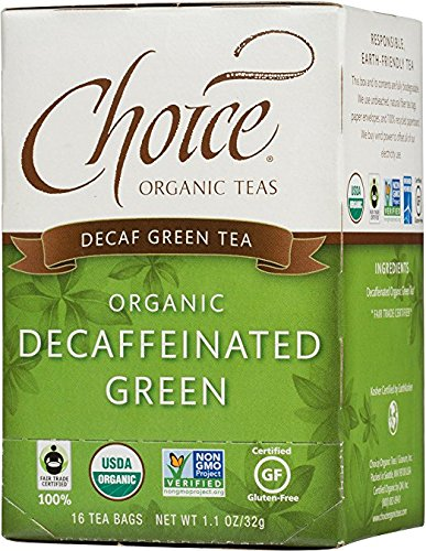 Choice Organic Decaffeinated Green Tea, 16 Count (Decaffeinated Green Tea Tea)