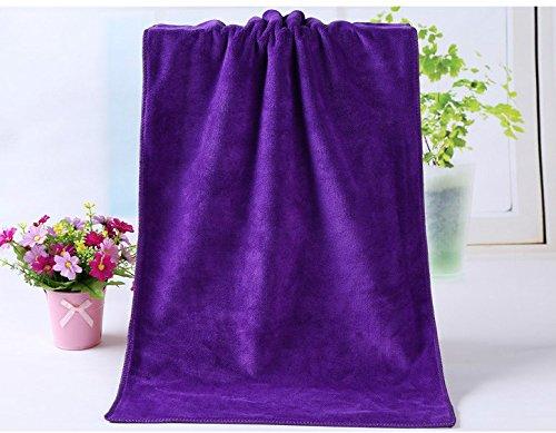 Huini 12 Pcs Microfiber Hair Drying Towels 14 X 30 Inches Purple