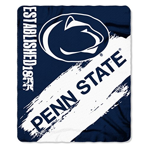The Northwest Company NCAA Penn State Nittany Lions Painted Printed Fleece Throw Blanket, 50