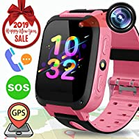 Kids Smart Watch GPS Tracker - Kids Phone Smartwatch Girls Boys with Game Fitness Tracker SOS Camera Anti-Lost Alarm Clock Children Wristband Bracelet Outdoor 2019 New Year Holiday Birthday Gift