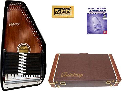Oscar Schmidt 'Berkshire' 15 Chord Autoharp, Maple Body, Sunburst Finsih, OS15B w/Hard Case, OS15B AC449PACK by Oscar Schmidt