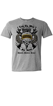 Amazon Com Us Army Ranger Airborne T Shirt Grey Combat Tee By