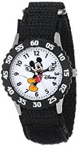 "Disney Kids' W000233 ""Mickey Mouse"" Stainless Steel Time Teacher Watch"