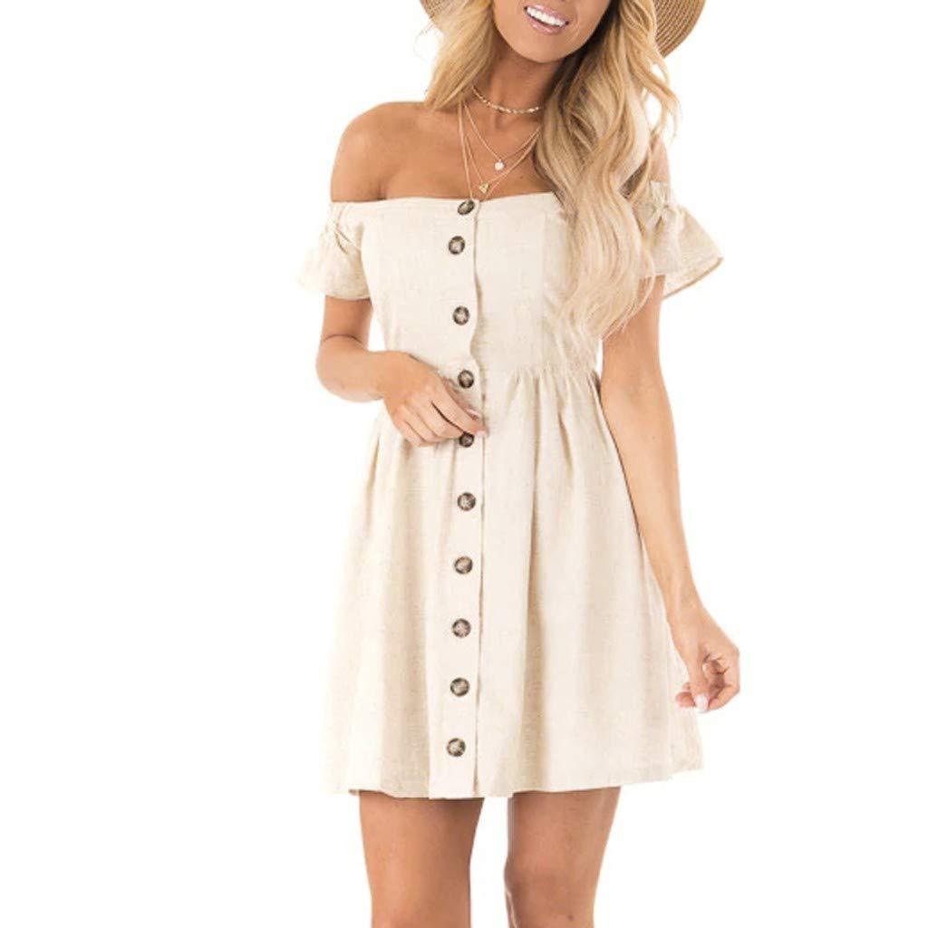 Vectry Vestidos Mujer Verano 2019 Vestidos Casuales Juveniles Vestido Largo Escote V Moda Mujer 2019 Rebajas Vestidos Vestidos para Ni/ña Vestidos