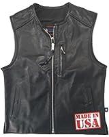 Legendary USA Men's Speed Demon Zippered Leather Motorcycle Racer Vest
