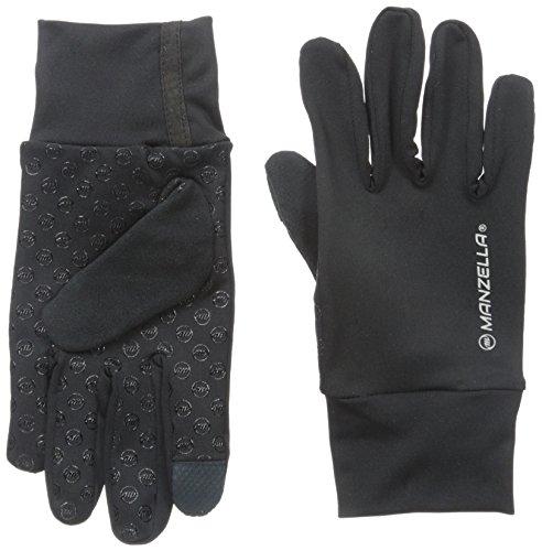 Manzella Liner Glove - Manzella Men's Sprint Ultra Touch Tip Gloves, Medium/Large, Black