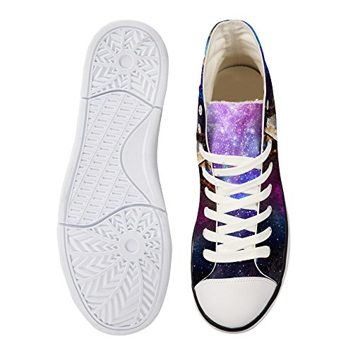 Bigcardesigns Galaxy Animale Casual Alta Cima Canvas Sneakers Eagle 3