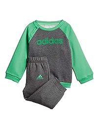 Adidas Kids Infants Boys Jogger Set Lifestyle Logo Pant Sweatshirt School