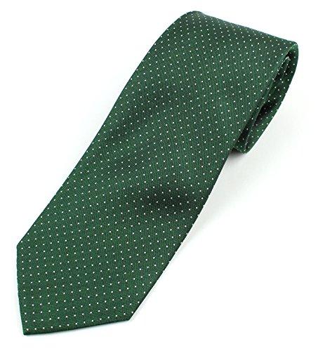 Green Necktie Tie (Men's Silk Necktie Tie Micro-Dot Pattern - Green)