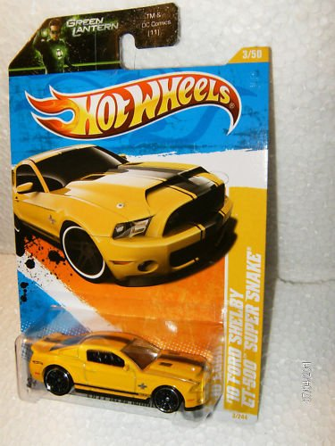2011 Hot Wheels 3/244 - New Models 3/50 - '10 Ford Shelby GT-500 Super Snake (Yellow) (Ford Shelby Gt500 Super Snake For Sale)
