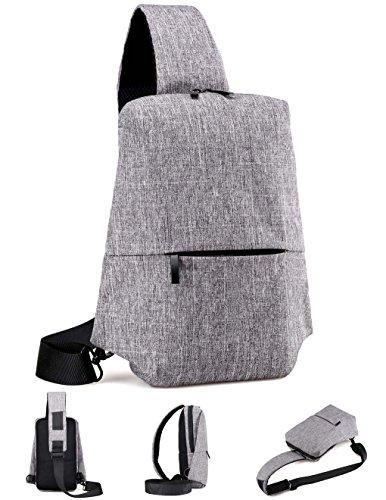 5371ed4fc Galleon - Kathdear Sling Bag Shoulder Chest Bag Casual Outdoor Sport Travel  Hiking Day Bag Crossbody Bag For Men Women (Light Gray)