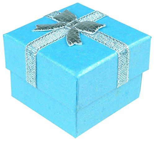 Immerschön Geschenk-Verpackung Karton mit Schleife hellblau Geschenk-Karton