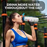 Cactaki Time Marked Water Bottle, Large BPA Free Sports Water Bottle for Health, Fitness and Outdoor Enthusiasts, Leakproof and Durable (1 liter/ 32 Ounce)