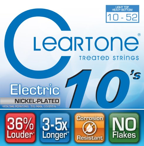 Cleartone Electric .010-.052 Light Top Heavy Bottom Strings by Cleartone