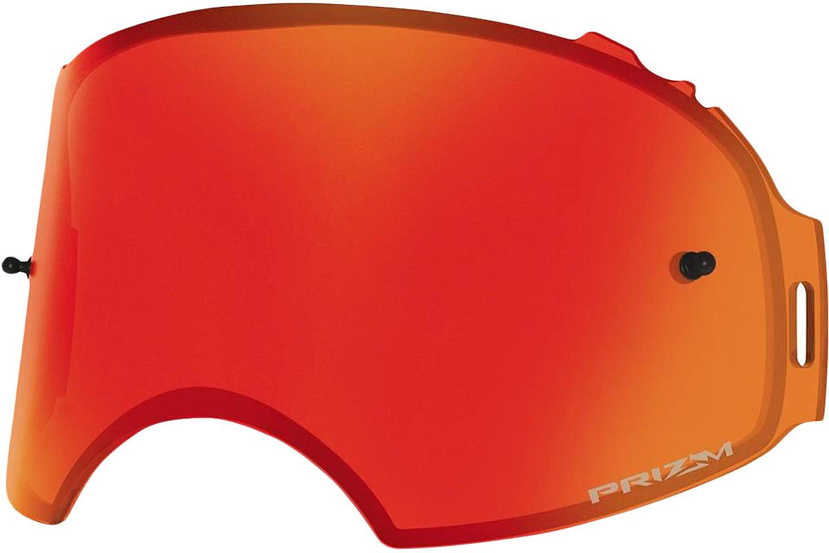 Oakley Airbrake Prizm MX Torch Irid REPL Lens unisex-adult Goggle Replacement Len (Red, Medium), 1 Pack