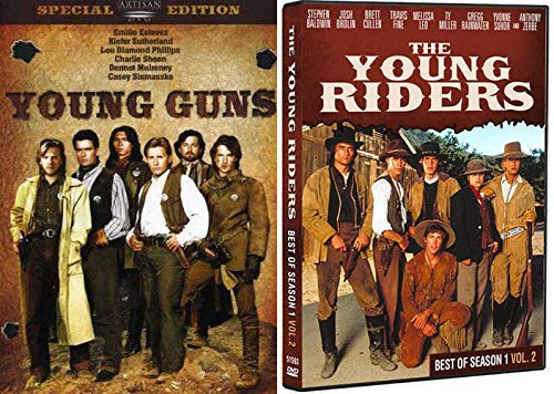 Regulating the Pony Express/ Young Stars Surviving The Wild Wild West: Young Guns (Special Edition) & The Young Riders (Best of Season 1 Vol. 2) DVD Bundle