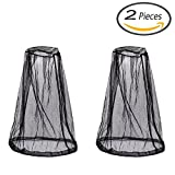 Senkary 2 Pcs Mosquito Head Net Face Head Cover Hat Mesh Fly Head Net for Mosquitos Beekeeper Outdoor Camping Fishing Travel