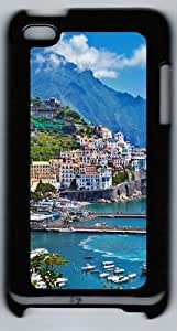 Apple iPod 4 Case and Cover - Greece Island City Landscape PC Case Cover for iPod 4/ iPod 4th Generation - Black