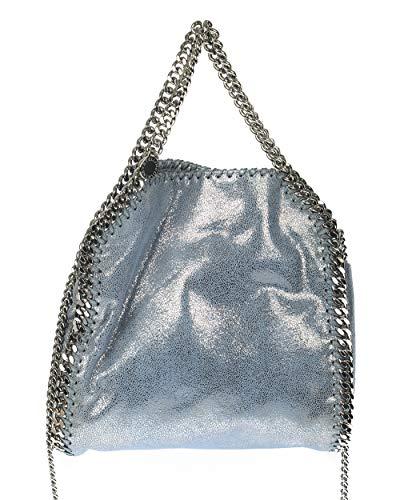 Stella Mccartney - Mini fourre-tout métallique à chevrons shaggy métalliques