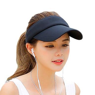 dcf8610f98733 LOVART'S BEAUTY レディースキャップ サンバイザー ゴルフ スポーツ 帽子 7色 (ブラック)