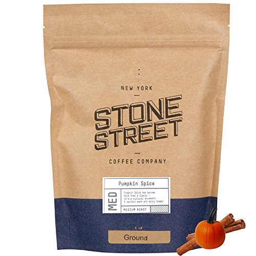 Stone Street Coffee Freshly Roasted Colombian Arabica Cinnamon/Nutmeg Creamy PUMPKIN SPICEGround Coffee, 1 lb