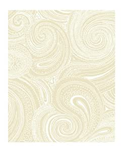 York Wallcoverings AP7472 Silhouettes Swirling Paisley Wallpaper, Beige/Cream