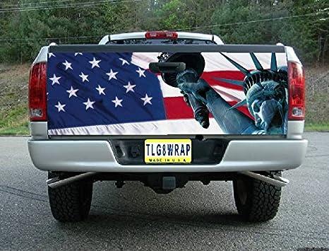 Amazon.com: T32 Bandera Americana Estatua de la libertad ...