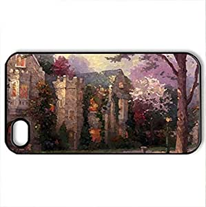 Beyond The Summer Gate - Case Cover for iPhone 4 and 4s (Houses Series, Watercolor style, Black)