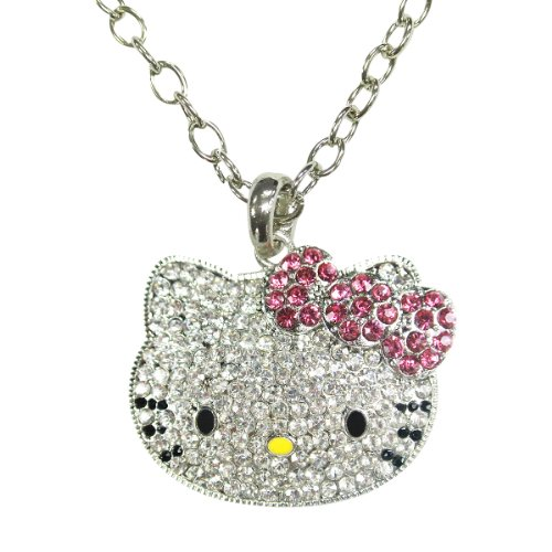 Wrapables Kitty Face Pendant Necklace