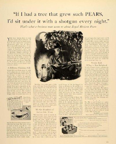 1938 Ad Royal Riviera Pears Fruit Tree Harry David Guns - Original Print Ad