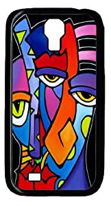 Abstract Art Original Black PC Samsung Galaxy S4 I9500 Case, Custom Case for S4 I9500 by mcsharks