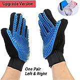 Upgrade Version Pet Grooming Glove- Gentle Deshedding Brush...