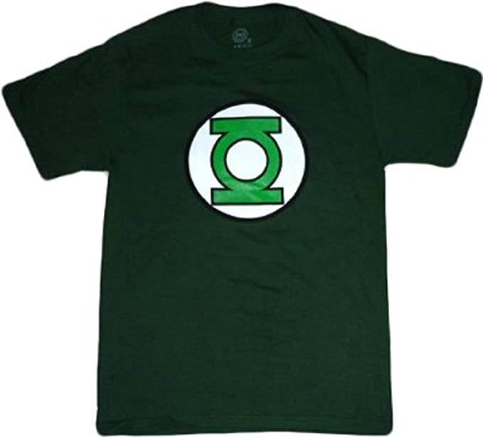 58ee9e574 Image Unavailable. Image not available for. Color: Green Lantern: Glow in  the Dark Green Lantern Symbol Green T Shirt ...
