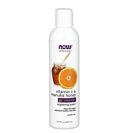 Soluciones, gel limpiador, vitamina C y miel de Manuka, oz fl 8 (