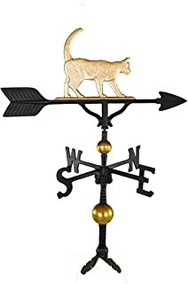 product image for Montague Metal Products 32-Inch Deluxe Weathervane with Gold Cat Ornament