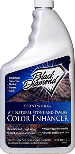 Color Enhancer Sealer for All Natural Stone and Pavers. Marble, Travertine, Limestone,Honed-Granite, Slate, Concrete, Grout, Brick, Block. (Quart, 1) (Patio Paver Sealing)