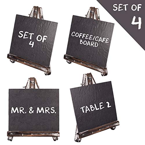 Mini Chalkboard Signs for Food Tables, Place Name Cards, Wedding Reception, Baby Shower, Appetizer Menu, Cafe Dessert Stand, Buffet Decor   Country Farmhouse Chalk Board Small Blackboard -