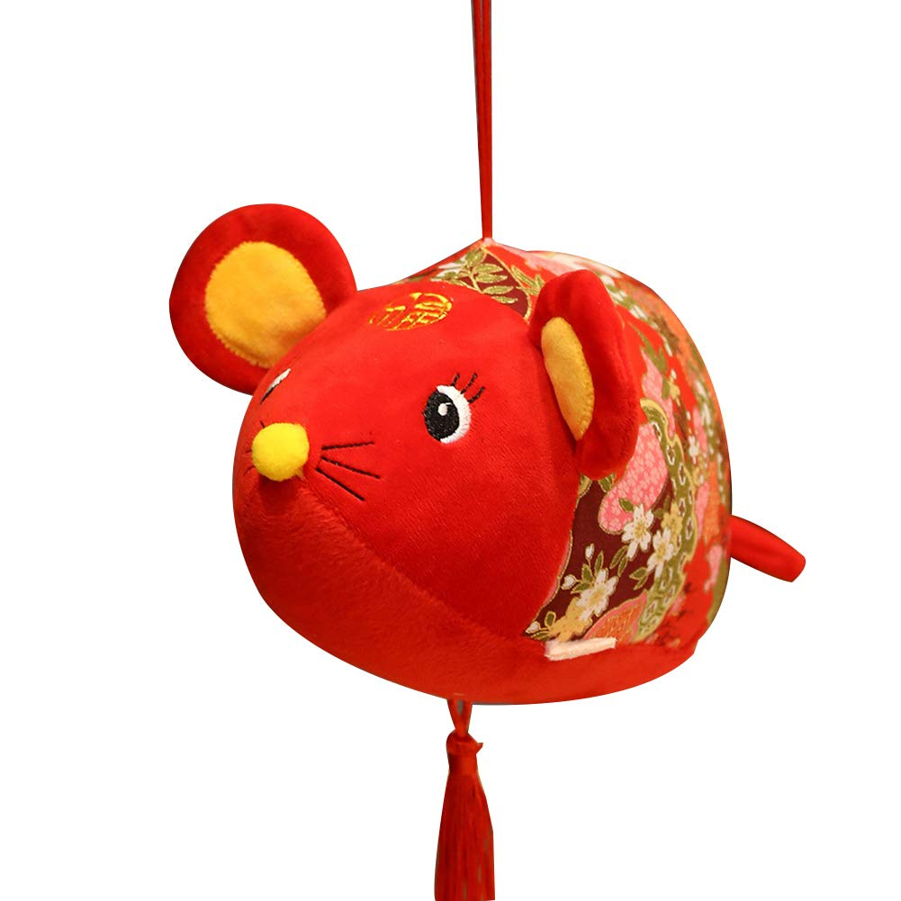tWUJl4SXJ 2020 Jahr Der Ratte Maskottchen Plüsch Puppe Spielzeug Chinesischen Knoten Quaste Maus Anhänger Kinder Geschenk Maus # 8cm