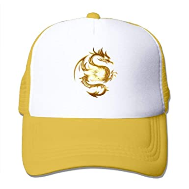 Gorras de béisbol/Hat Trucker Cap Gold Abstract Animal Dragon Wing ...