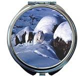 Rikki Knight Arctic Fox Design Round Compact Mirror